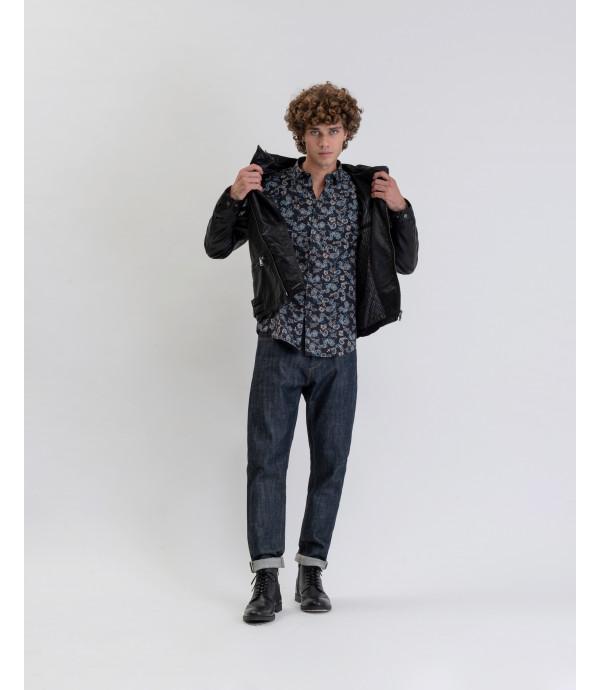 Micro paisley printed shirt