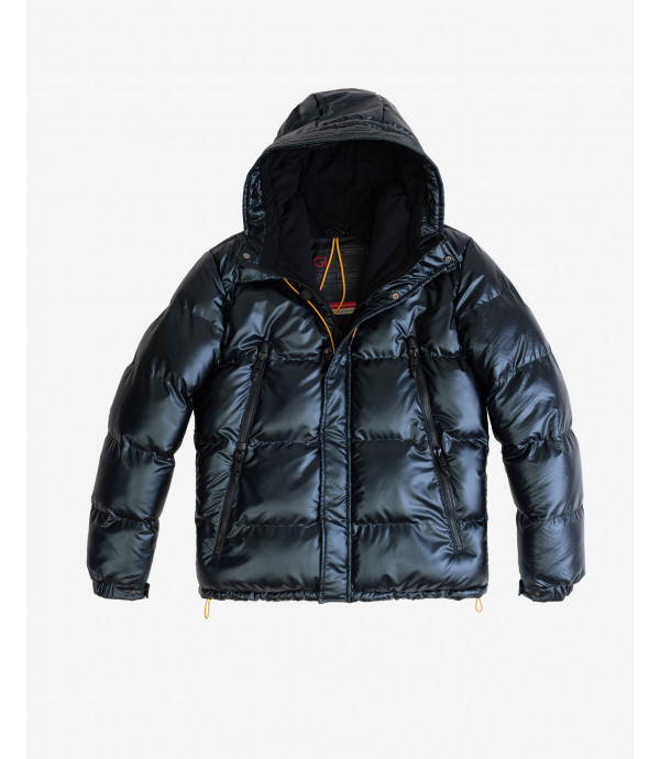 Puffer jacket with detachable shoulder straps