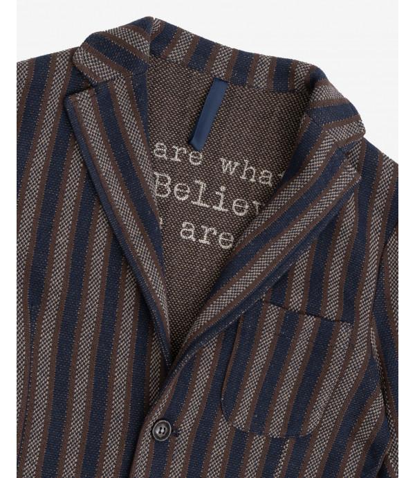 Striped deconstructed blazer