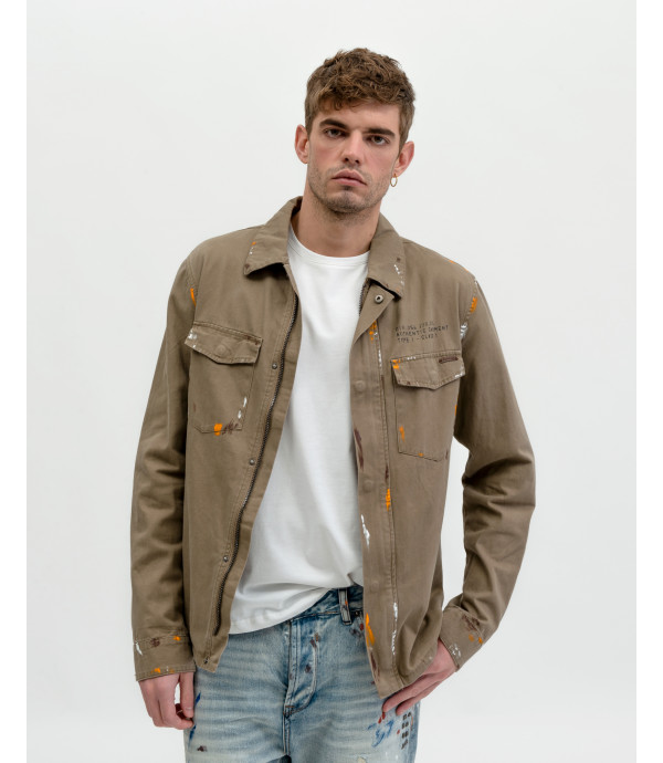 Overshirt with Zip and chest pockets
